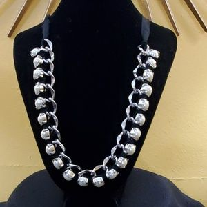 Ann Taylor Silver Chain Pearl Necklace #612